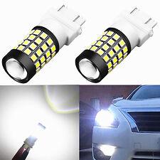 Alla Lighting 2x 1000Lm 51-SMD 3157 3156 T25 3057 White LED Bulbs Back-up Lights
