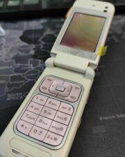 Nokia 7390 ORIGINALE CELLULARE TELEFONO ROSA PANNA FLIP COME NUOVO