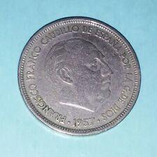 1957 Spain 50 ptas *58 with una-grande-libre. Rare coin ((720))