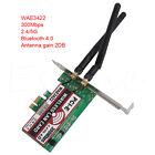 Bluetooth 4.0 Dual-Band 300Mbps PCI-e PCI Express Card Network Wlan Adapter WiFi