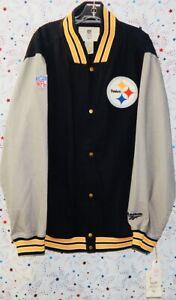 REEBOK VINTAGE COLLECTION THROWBACK NFL PITTSBURGH STEELERS XL JACKET + SHIRT