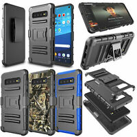 For Samsung Galaxy S10e/S10/S10+ Belt Clip Stand Full Defender Hard Case Cover