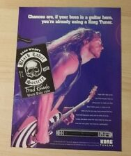 1999 PRINT Ad FOR KORG TUNERS BLACK LABEL SOCIETY WYLDE