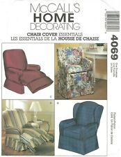 McCall's 4069 Slipcovers - Recliners, Wingbacks & Director Chairs UNCUT PATTERN