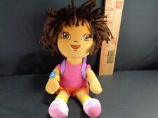 """DORA THE EXPLORER WITH CRAZY HAIR Backpack PLUSH STUFFED TOY DOLL 8"""" TY"""