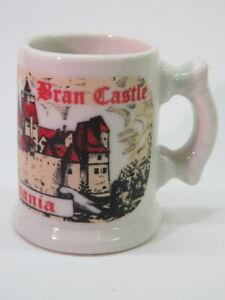 Mini Stein Mug Liquor SHOT GLASS ~ BRAN CASTLE ~ Count Dracula, Transilvania