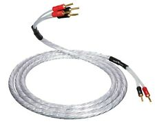 QED XT25 BI-WIRE Speaker Cable 2 x 5m AIRLOC ABS Plugs 2 to 4 Terminated Pair