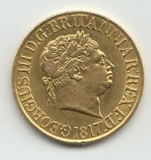 More details for 1817 sovereign king george iii full gold sovereign coin
