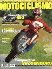 7 2002 MOTOCICLISMO - DOSSIER SUPERMOTARD - SUZUKI BURGMAN 650 - HONDA PAN