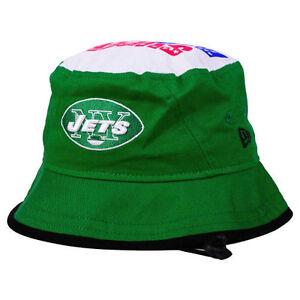 New York Jets NFL Team Traveler Bucket Super Bowl 3 III Sun Beach Hat Cap NYJ NY