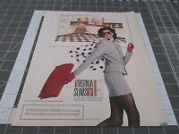 1990 VIRGINIA SLIMS Cigarettes Well dressed Woman, Print Ad