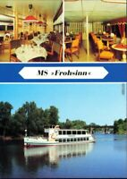 """Ansichtskarte Ansichtskarte Magdeburg MS """"Frohsinn"""" mit Innenansicht 1990"""