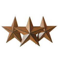 12-Inch Galvanized Metal Barn Star Primitives Rustic Garden Decorations Set of 3