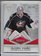 11-12 Titanium Allen York Rookie # 155 #d/41