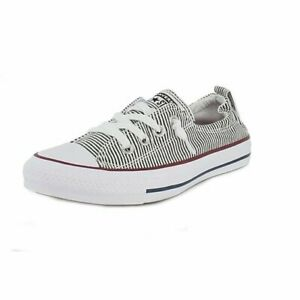 Converse 562034F Womens CTAS Shoreline Sneakers Black/White/Red