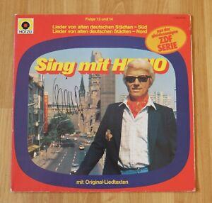 """ORIGINAL Autogramm von Heino auf VINYL 12"""". """"SING MIT HEINO""""."""