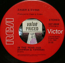"""*<*  BUMMER! ZAGER & EVANS #1 HIT """"IN THE YEAR 2525"""" UNPLAYED MINT 45/SLV! SALE!"""