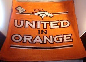 NFL Football Denver Broncos United In Orange Rally Towel