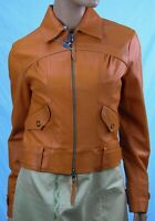 Authentic Society Team Women's Leather jacket US size 6 . Made in Italy