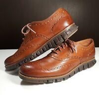 Cole Haan ZEROGRAND Wingtip Oxford Men's Shoes Size 8.5 C29411 British Tan Java