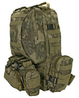 LARGE ASSAULT TACTICAL BACKPACK - NEW COLOR GREEN WEB - 600 DENIER FABRIC