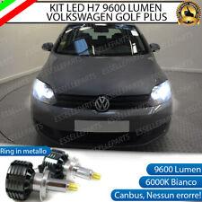 KIT LED H7 CANBUS VOLKSWAGEN GOLF PLUS CON LED A 360° 9600 LUMEN 6000K BIANCO