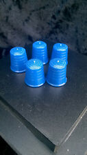 Set de 5 dés à coudre en magie de couleur bleue (style Jo Mogar)