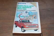 Chilton Ford Pickup Trucks, Chassis & Bronco 1987 - 1993 Repair Manual #7829