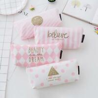 Handy Pencil Case Pen Box School Stationery Cosmetic Makeup Pouch Zipper Bag CA#