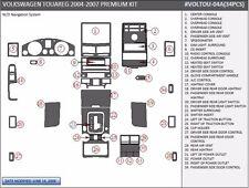 DASH TRIM PREMIUM KIT 34 PCS FITS VW TOUAREG 2004-2007 W/O NAVI voltou-04a