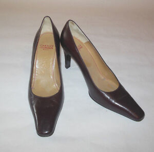 CHARLES JOURDAN WOMENS SHOES BROWN LEATHER BASIC PUMP SIZE 6
