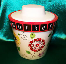 "NEW Groovy Garden ""MOTHER"" Floral Tealight Candle Holder and Planter with Dish!"