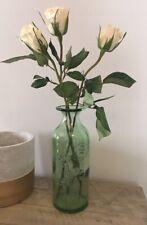 Vase Glass Bottle Flowers Embossed Handmade Decoration Recycled Glass Spain