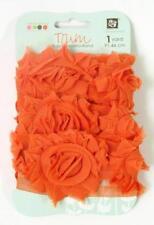 Prima Marketing ROSE TRIM Orange Cheer Fabric Ribbon Donna Downey 1 Yard 921576