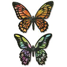 Sizzix Thinlits Dies 4/Pkg By Tim Holtz - Detailed Butterflies