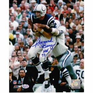 RAYMOND BERRY *SIGNED + HOF INSCRIPTION* 8X10 GAME ACTION PHOTO ~ COLTS!