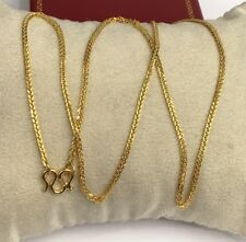 24k Solid Gold Diamond Cut Chain/ Necklace. 18 Inches. 5.42 Grams