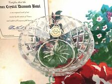 """Lenox Collections Full Lead Crystal 3.5"""" Diamond Bowl Nib With Certification"""