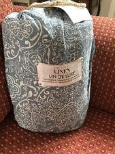 Pure Luxury Fine European Vintage Washed Linen Floral King Duvet Cover Set Spa