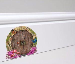 Fairy Door Wall Skirting Board Sticker Decal