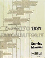 1987 Chevy Cavalier Repair Shop Manual Chevrolet CS RS Z24 Original OEM