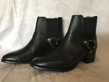 NWOB FRYE Women's Dara Harness Chelsea Black Boot Ankle Bootie Sz 7