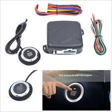 4 Pcs DC12V Car Engine Push Starter Key Passive Keyless Entry Push Button Alarm