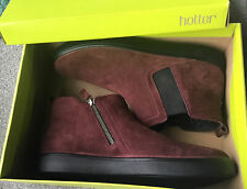 Hotter Ladieswinter Maroon Suede Ankle Boots BNIB Size UK 7