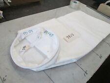 "Dust Collector Steel Ring Polypropylene Bags PO25 9"" OD Ring 24"" Lg Lot 10 (NIB)"