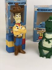 Disney Pixar Toy Story Woody & Rex Minute Maid Squeeze Bottles