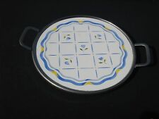 """Two Tower Mark 5472 H Blue Floral Design Trivet Or Hot Plate 10.5"""" 6X27P"""
