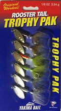 (6) New Worden's Rooster Tail 1/8 oz Trophy Pak Spinner Bait Lot Trout Bass