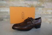 TODS TOD'S TAGLIA 39,5 Slipper Scarpe Basse Budapester Scarpe Shoes Cacao NUOVO UVP 340 €