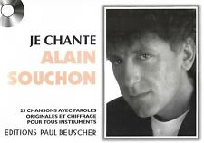 Partition pour voix - Alain Souchon - Je Chante Souchon